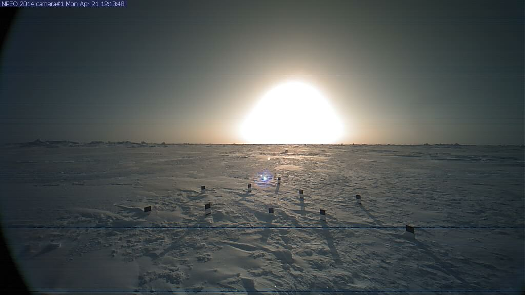 NPEO webcam 1 image from April 14th 2014